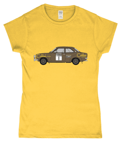 Ford Escort MK1 Colibri T-Shirt in Yellow
