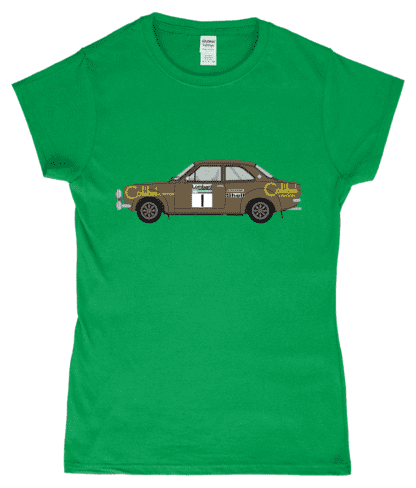 Ford Escort MK1 Colibri T-Shirt in Green