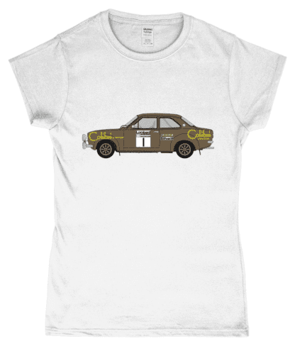 Ford Escort MK1 Colibri T-Shirt in White