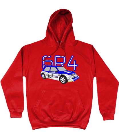 MG Metro 6R4 Computervision Hoodie in Red