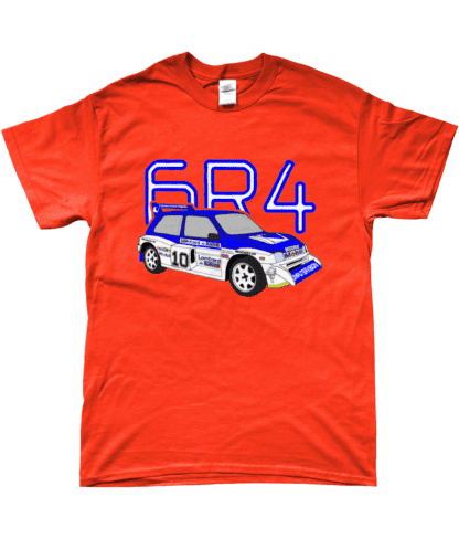 MG Metro 6R4 Computervision T-Shirt in Orange