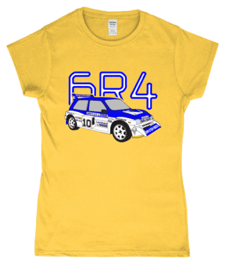 MG Metro 6R4 Computervision T-Shirt in Yellow