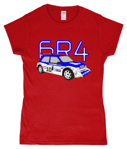 MG Metro 6R4 Computervision T-Shirt in Red