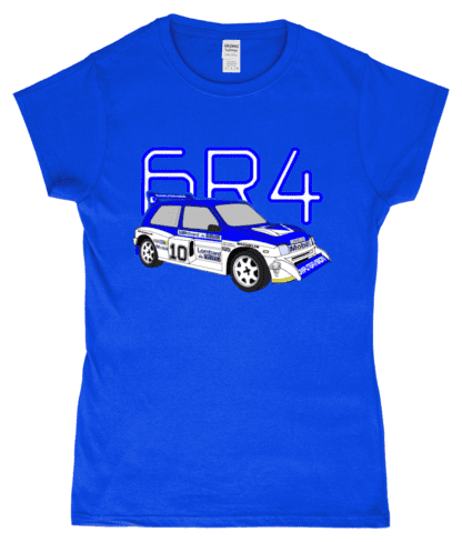 MG Metro 6R4 Computervision T-Shirt in Blue