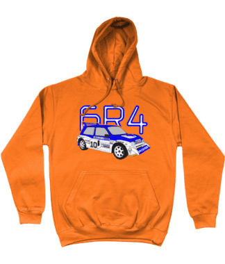 MG Metro 6R4 Computervision Hoodie in Orange
