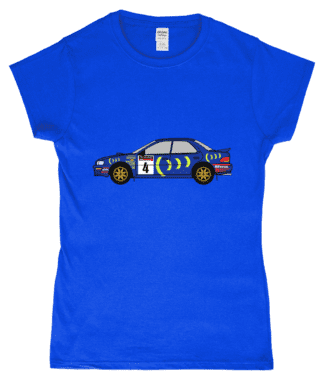 Subaru Impreza 555 Colin McRae T-shirt in Blue