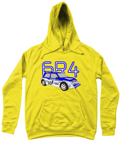 MG Metro 6R4 Computervision Hoodie in Yellow