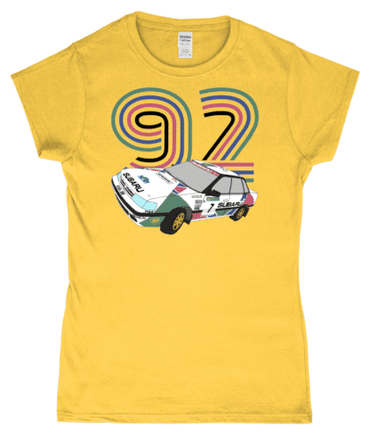 Subaru Legacy Colin McRae T-Shirt in Yellow
