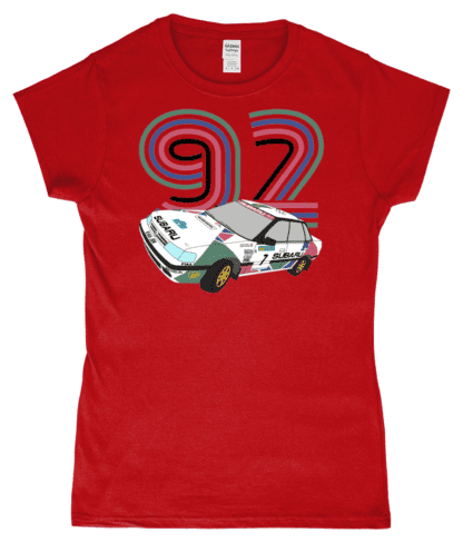 Subaru Legacy Colin McRae T-Shirt in Red