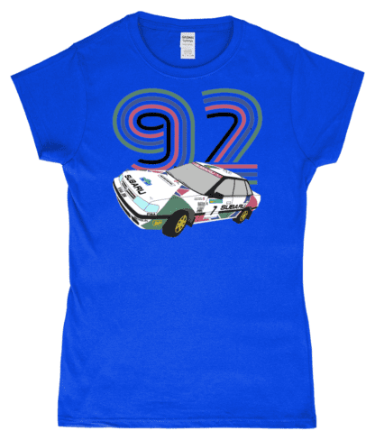 Subaru Legacy Colin McRae T-Shirt in Blue