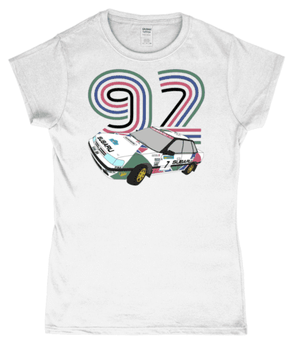 Subaru Legacy Colin McRae T-Shirt in White