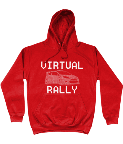 Virtual Rally Hoodie in Red