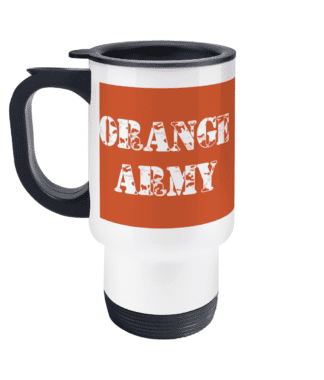 Orange Army Travel Mug