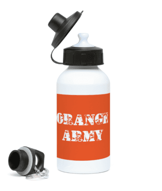 Orange Army Water Bottle