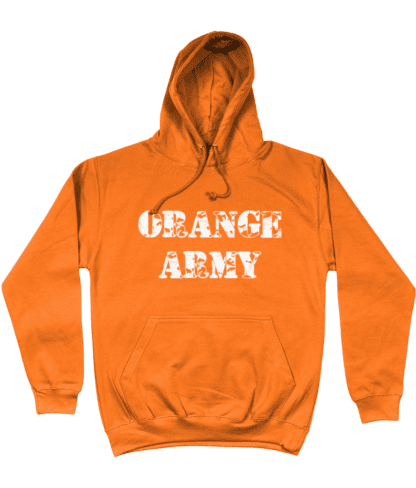 Orange Army Hoodie in Orange