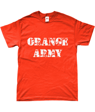 Orange Army T-Shirt in Orange