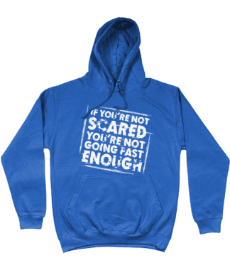 Not Scared Hoodie in Blue