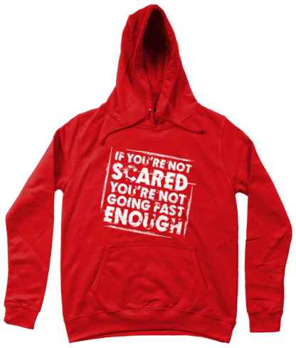 Not Scared Hoodie in Red