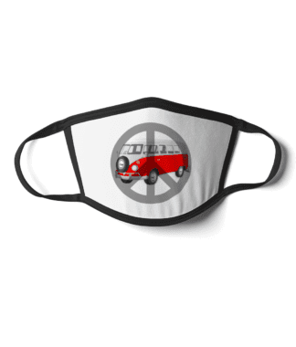 Campervan peace face mask