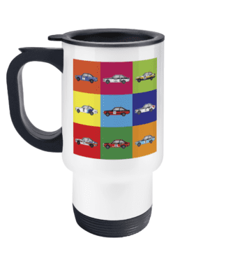 Ford Escort Mk2 Rally Cars Travel Mug