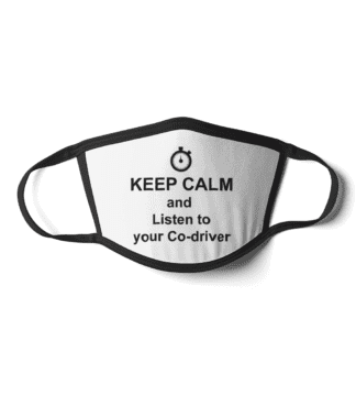 Keep Calm listen co-driver face mask