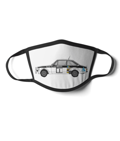 Ford Escort MK2 rally car Allied Polymer face mask