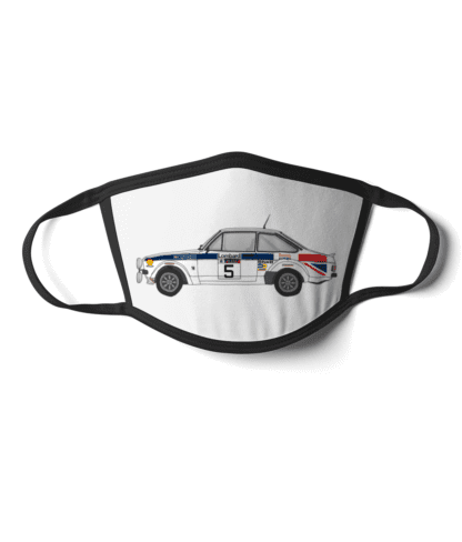 Ford Escort MK2 rally car British Airways face mask