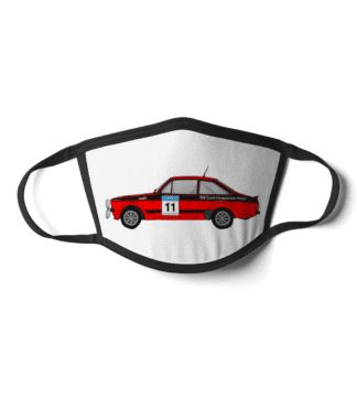 Ford Escort MK2 rally car Colin McRae face mask
