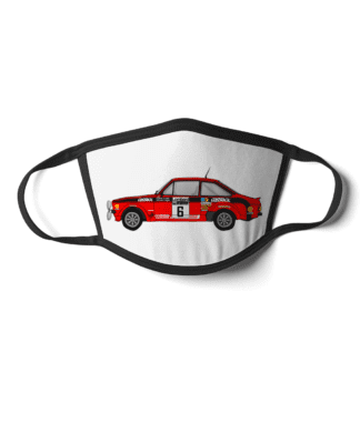 Ford Escort MK2 rally car Cossack face mask