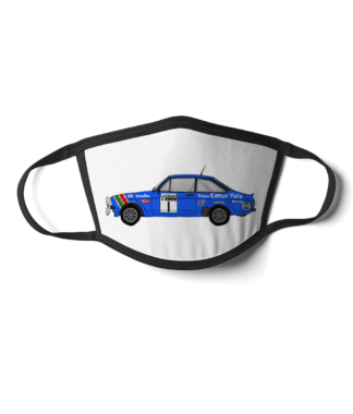 Ford Escort MK2 rally car Eaton Yale face mask