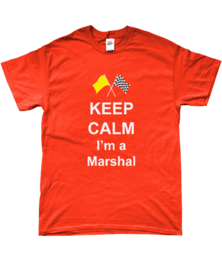 Keep Calm I'm a Marshal T-Shirt in Orange