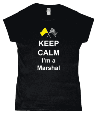 Keep Calm I'm a Marshal T-Shirt in Black