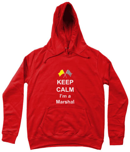 Keep Calm I'm a Marshal Hoodie in Red
