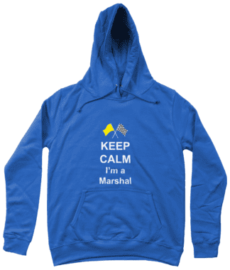 Keep Calm I'm a Marshal Hoodie in Blue