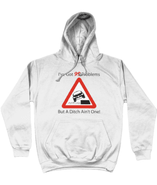 99 Problems Hoodie in White