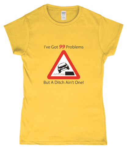 99 Problems T-Shirt in Yellow