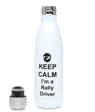 Keep Calm I'm a Rally Driver Water Bottle